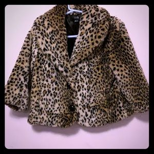 Leopard 3 quarter sleeve jacket